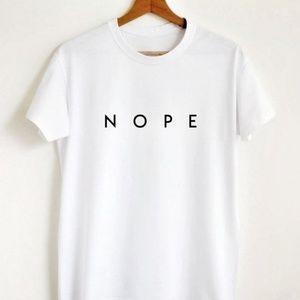 NOPE white crew neck tshirt
